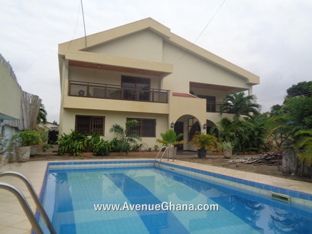 4 bedroom house with swimming pool for rent at East Legon near Ambassadorial Enclave in Accra Ghana