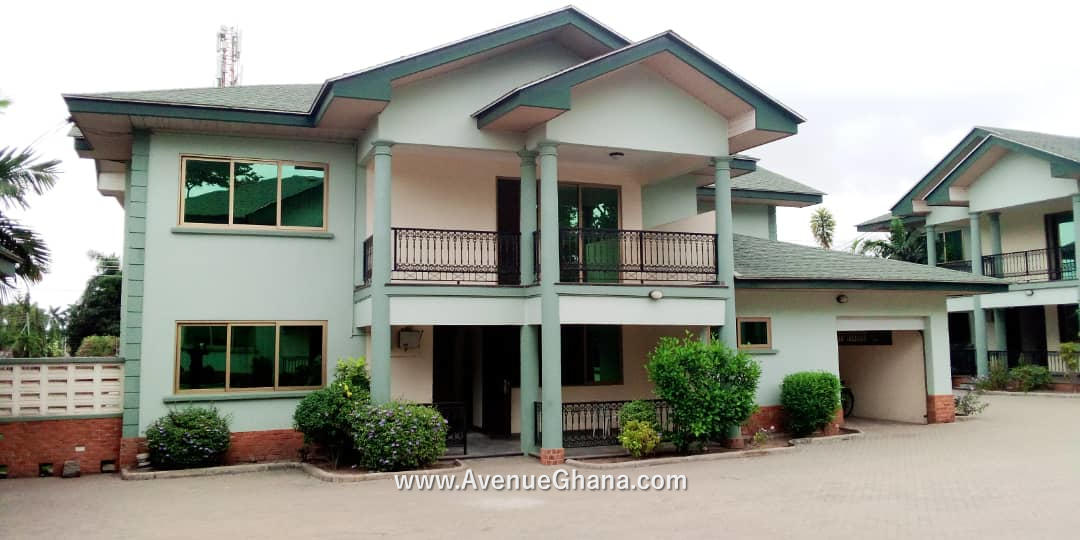 4 bedroom townhouse with an outhouse for rent at Dzorwulu in Accra Ghana