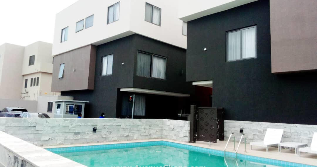 4 bedroom furnished townhouse with outhouse for rent at East Legon in Accra