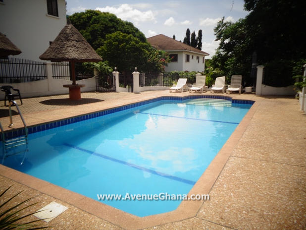 4 bedroom townhouse with 2 bed outhouse to let at Airport Residential Area, Accra