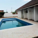 3 bedroom smart house with swimming pool and 3 bed outhouse for rent at Abelemkpe in Accra