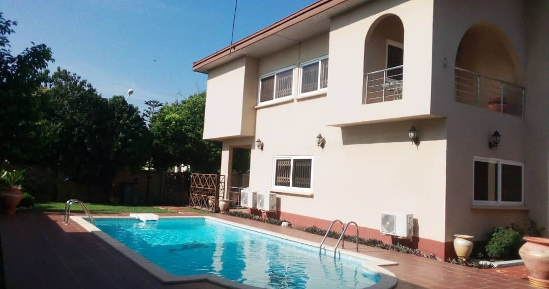 4 bedroom house with swimming pool for sale in Regimanuel Estates, Spintex Road near East Airport, Accra